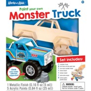Classic Wood Paint Kit: Monster Truck