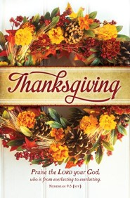 Thanksgiving Praise (Nehemiah 9:5, NIV) Bulletins, 100