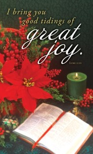 Great Joy (Luke 2:10, KJV) Announcement Folders, 100