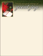 Great Joy (Luke 2:10, KJV) Letterhead, 100