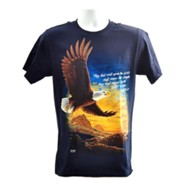 Wings As Eagles Shirt, Navy, 3X Large