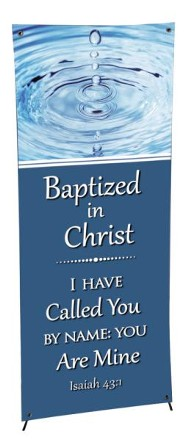 X-Stand Banner: Baptism (23 inch x 63 inch)