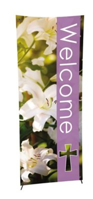 Welcome Spring X-Stand Banner (23 inch x 63 inch)