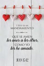 Placa de Madera: Que se Amen  (Love Each Other, Spanish Wood Plaque)