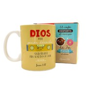 Dios puede poner derecho, Taza, Coleccion Comparte  (God Can Put Right Side Up, Mug, Share Collection, Spanish)