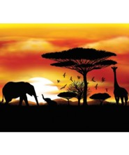 Roar: Sunset Mural (5 ft. x 6 ft.)