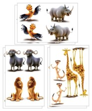 Roar: Bible Memory Buddy Mini Posters (set of 6)