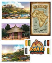 Roar: Giant Decorating Poster Pack (set of 5, 3 ft. x 5 ft.)
