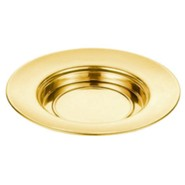 Polished Aluminum Bread Plate, Brass Tone