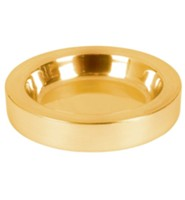 Polished Aluminum Communion Tray Center Bread Plate, Brass  Tone