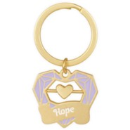 Hope Keychain with Heart Spinner