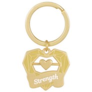 Strength Keychain with Heart Spinner