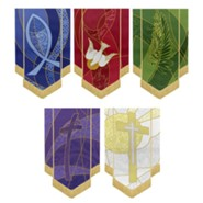 Symbols of Liturgy Banner, Set of 5