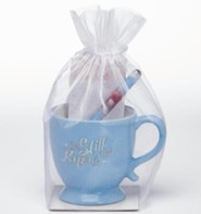Be Still and Know, Mug, Pen and Notepad Gift Set