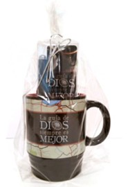 God's Direction Is Always Best, Mug, Pen and Bookmark Gift Set, Spanish