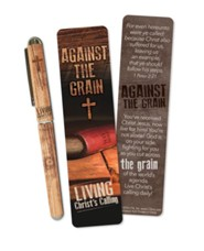 Against the Grain Bookmark and Pen Set, KJV Edition