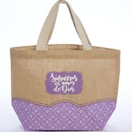 Susurros del amor de Dios, bolso  (Whispers of God's Love Tote Bag, Spanish)