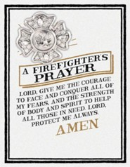 A Firefighters Prayer Pin and Card