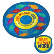 Dive Into God's Word Flying Disc and Nylon Pouch