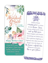 Abundant Grace Mother's Day Jumbo Bookmark