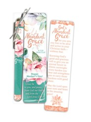 Abundant Grace Mother's Day Bookmark and Pen Gift Set