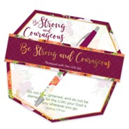 Be Strong and Courageous Notepad and Pen Giftset