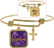 Wisdom Adjustable Bracelet, Prov 2:6