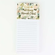 I Can Do All Things Through Christ Magnetic Notepad