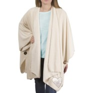 You Are Special, Let Love Keep You Warm, Plush Comfort Shawl, Crème