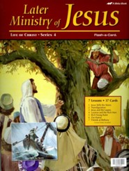 Abeka Later Ministry of Jesus Flash-a-Card Set