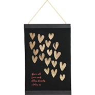 Love Each Other Hanging Banner with Tassel