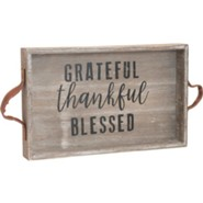 Grateful Thankful Blessed Wooden Tray