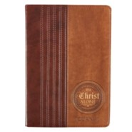 In Christ Alone Journal, Lux-Leather, Brown