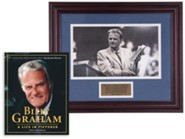 Billy Graham Commemorative Print & A Life in Pictures Bundle (Billy Graham and the Bible)
