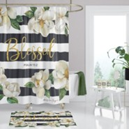 Blessed, Magnolia, Shower Curtain
