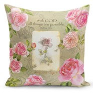 With God, Roses, Pillow Cover