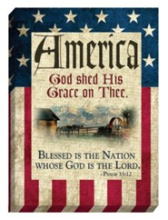America, God Shed His Grace On Thee Magnet