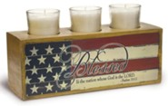 Blessed Is the Nation Votive Holder