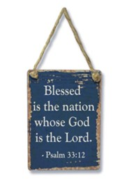 Blessed Is the Nation Mini Sign