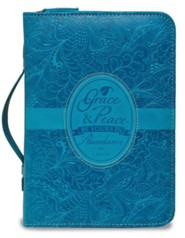 1 Peter 1:2, Bible Cover, Blue, Large