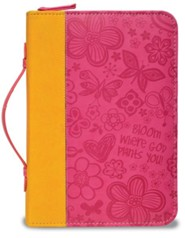 Bloom Bible Cover, Orange and Pink, Medium