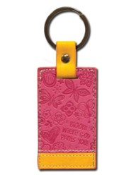 Bloom Keychain, Orange and Pink