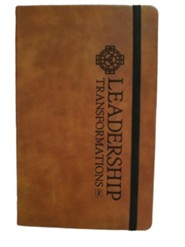 Leadership Transformations, Leather Notebook, Large,Tan
