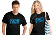 Faith Is Strong Shirt, Black, Small, Unisex