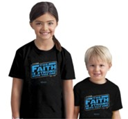 Faith Is Strong Shirt, Black, Youth Large