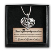 Heart Necklace in Graduation Cap Box