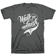 Walk By Faith Shirt, Heather Black, XXX-Large