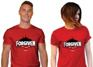 Forgiven, Jesus Fought the Battle, Shirt, Red, Small, Unisex