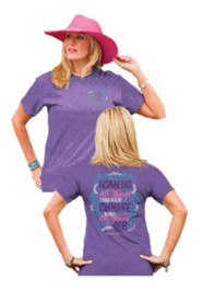 I Can Do All Things Through Christ Shirt, Purple, Small