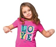 Love One Another Shirt, Pink, Youth Medium
